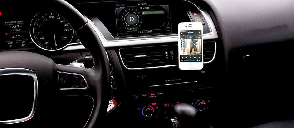 iPhone telefoonhouder auto