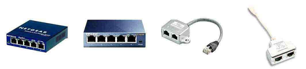 Internet kabel splitter
